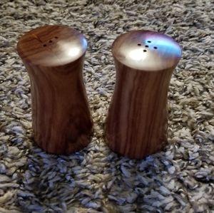 Vintage Wooden Salt Pepper Shakers